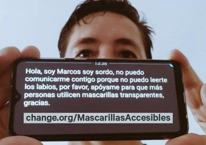 70.000 personas reivindican la homologación de las mascarillas transparentes accesibles para personas con problemas de audición